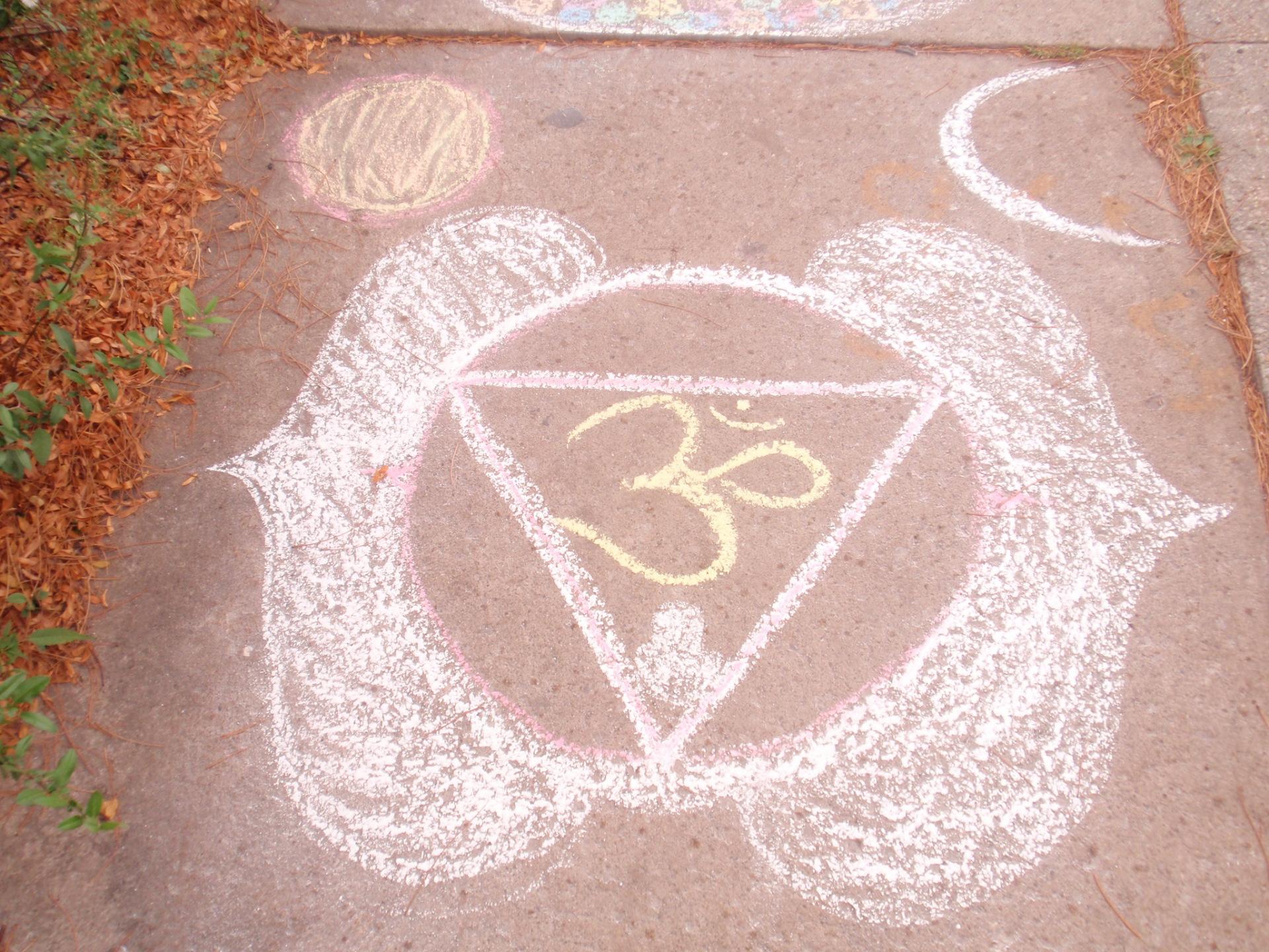Student Chalk Chakra Drawings