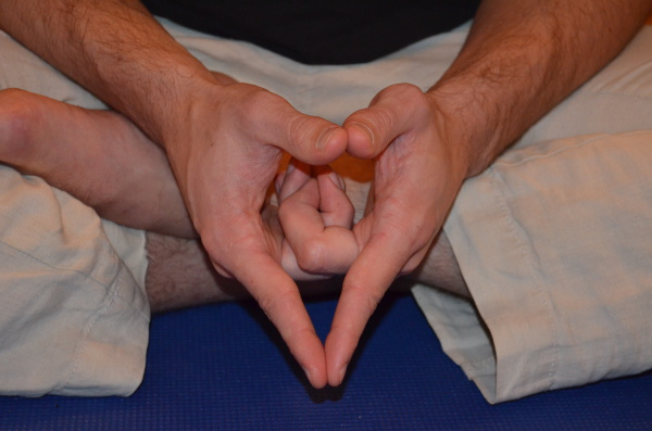 Student Holding a Mudra