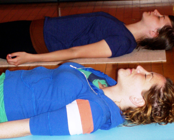 Students in Shavasana for Satyananda Yoga Nidra