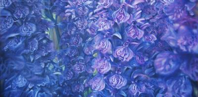 "Purple Haze ~ 18 x 36"" ~ Oil on canvas ~ $648"