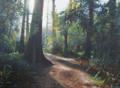 "Bush Walk ~ 30 x 22"" ~ Oil on canvas ~ $480"
