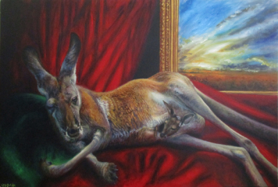 'Reclining Roo' ~ 36' x 24' ~ Oil on Canvas ~ $1800