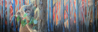 Arboreal Climbing ~ Oil on 18' x 55' Canvas