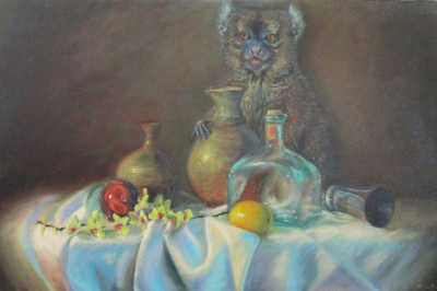 There's still life ~ Oil on 24' x 36 canvas