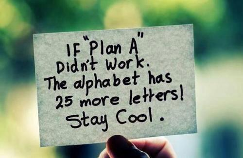 Try, Try, Again or Stop the Insanity? Introduction to Plans B-Z