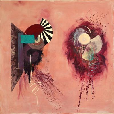 'Duality' 2014. Acrylic on canvas. 152 cm x 152 cm.