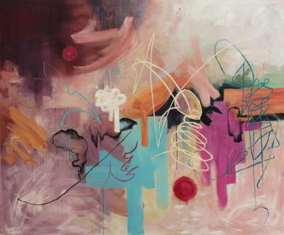 'Anima' 2014. Acrylic and oil on canvas. 152 cm x 182 cm.