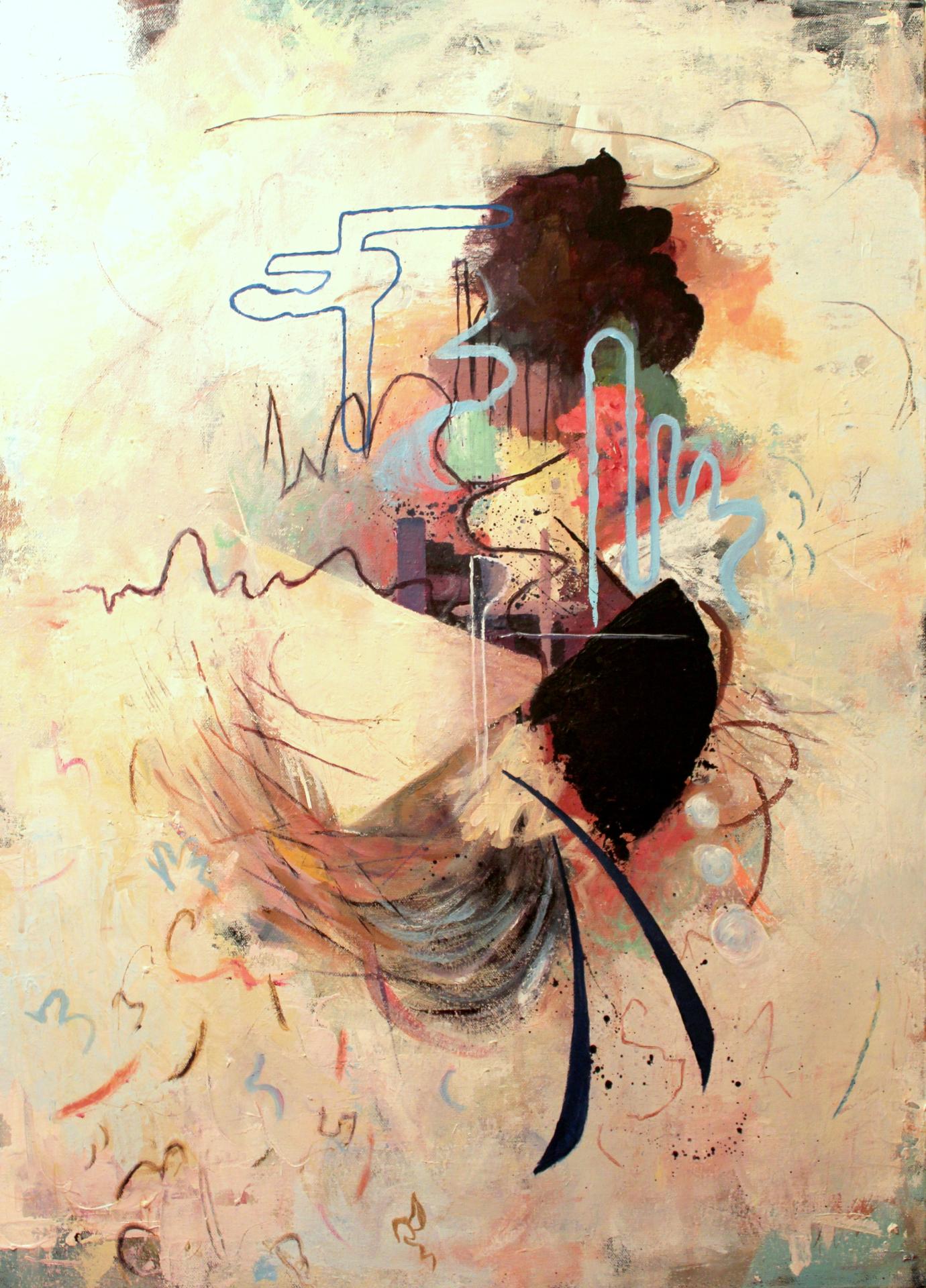 'Ascension'  2015. Acrylic on canvas. 70 cm x 50 cm