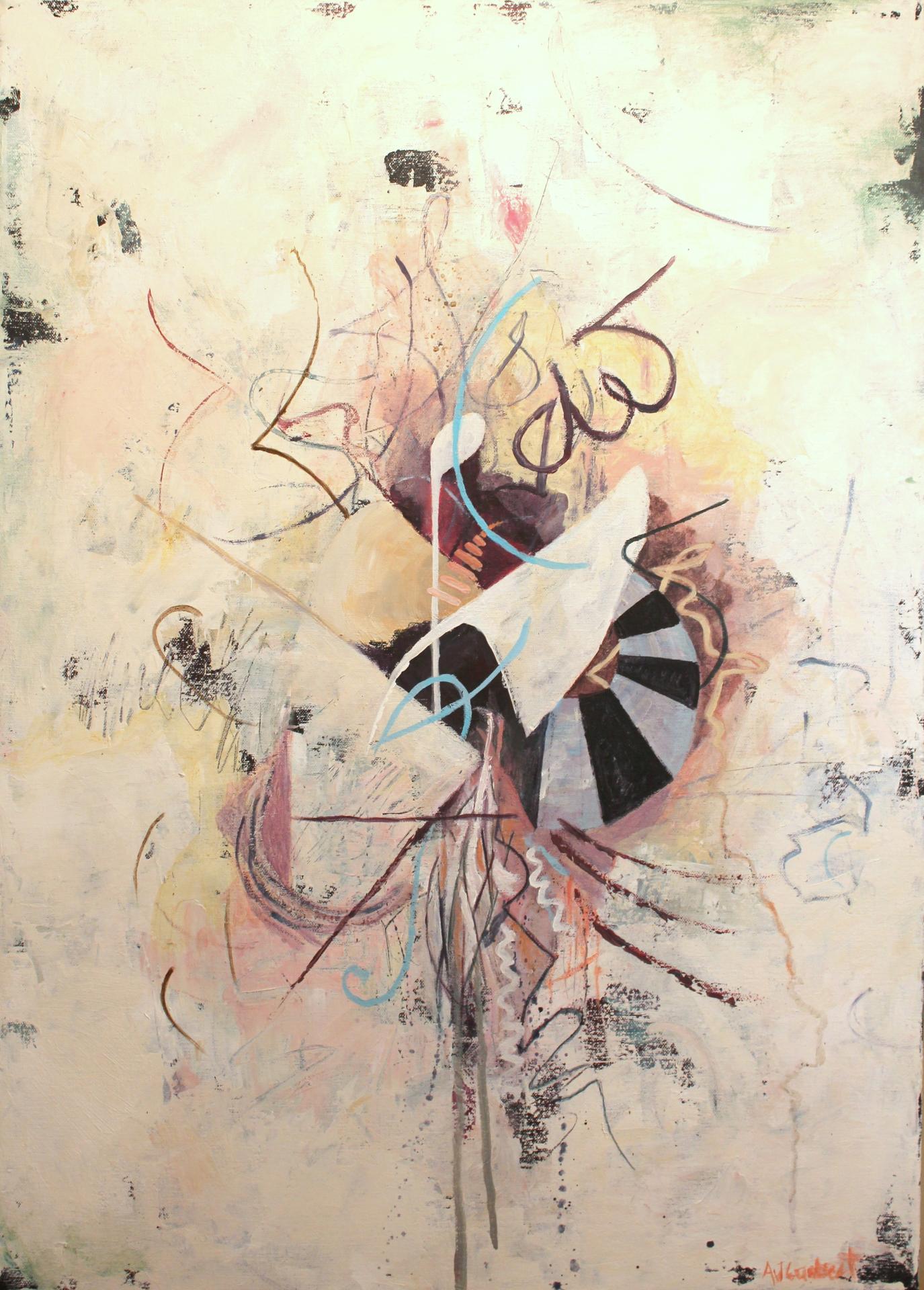 'Ascension No. 2'. Acrylic on Canvas.  70cm x 50 cm.