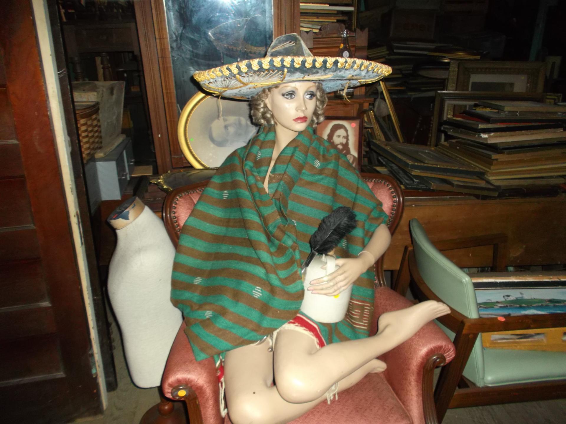 Orphan Annie's Antiques mannequin