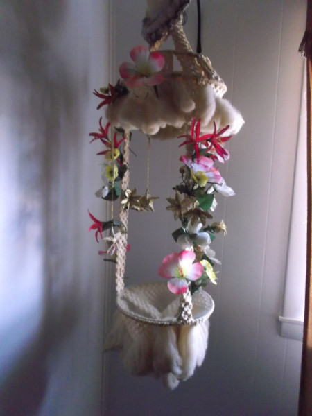 flowers and macrame