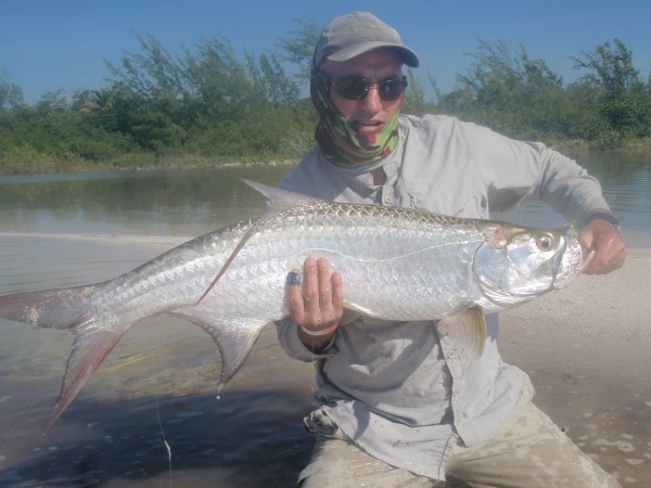 Tarpon fishing in Mexico with a fly rod