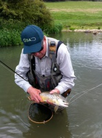 A large trout from the river Windrush