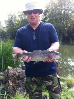 A good rainbow trout from an Oxford fly fishery