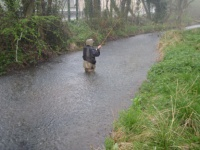 A fly fisherman on the river Dickler