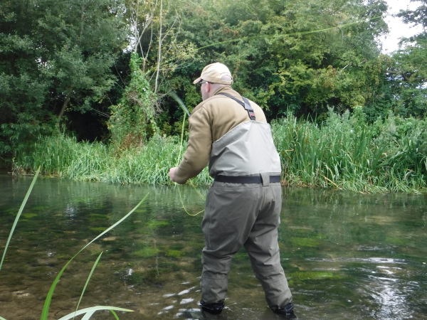 Trout fishing on the river Coln