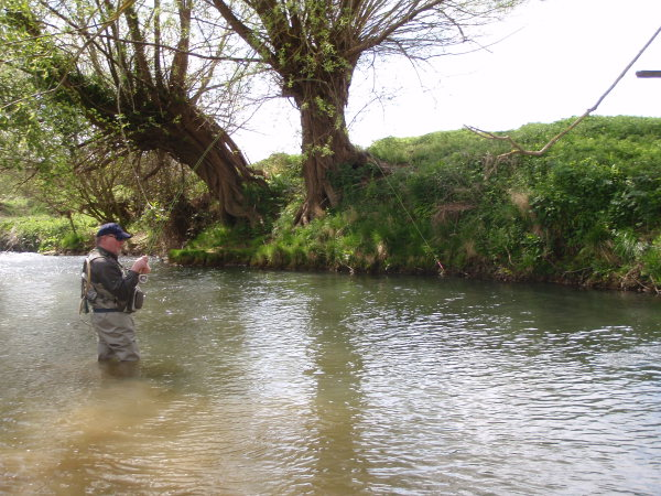 Fly fishing on the River Stour