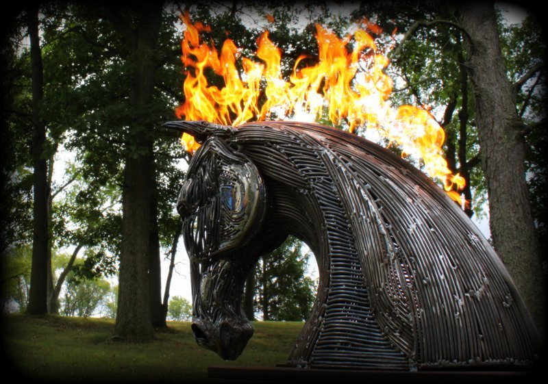Viking Iron Flaming Horse