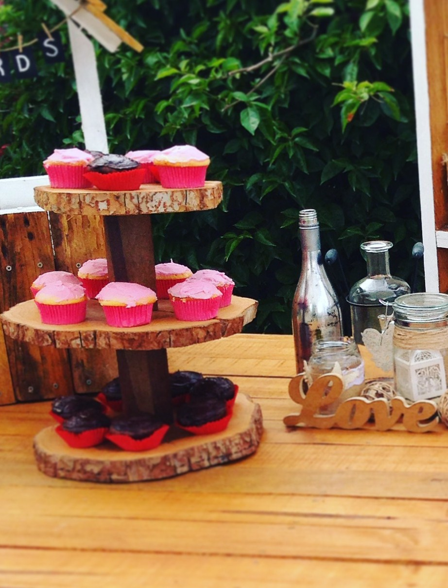 Rustic cake stand, rustic wedding decorations