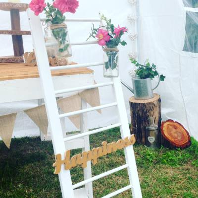 Rustic Ladder, Rustic Wedding Hire