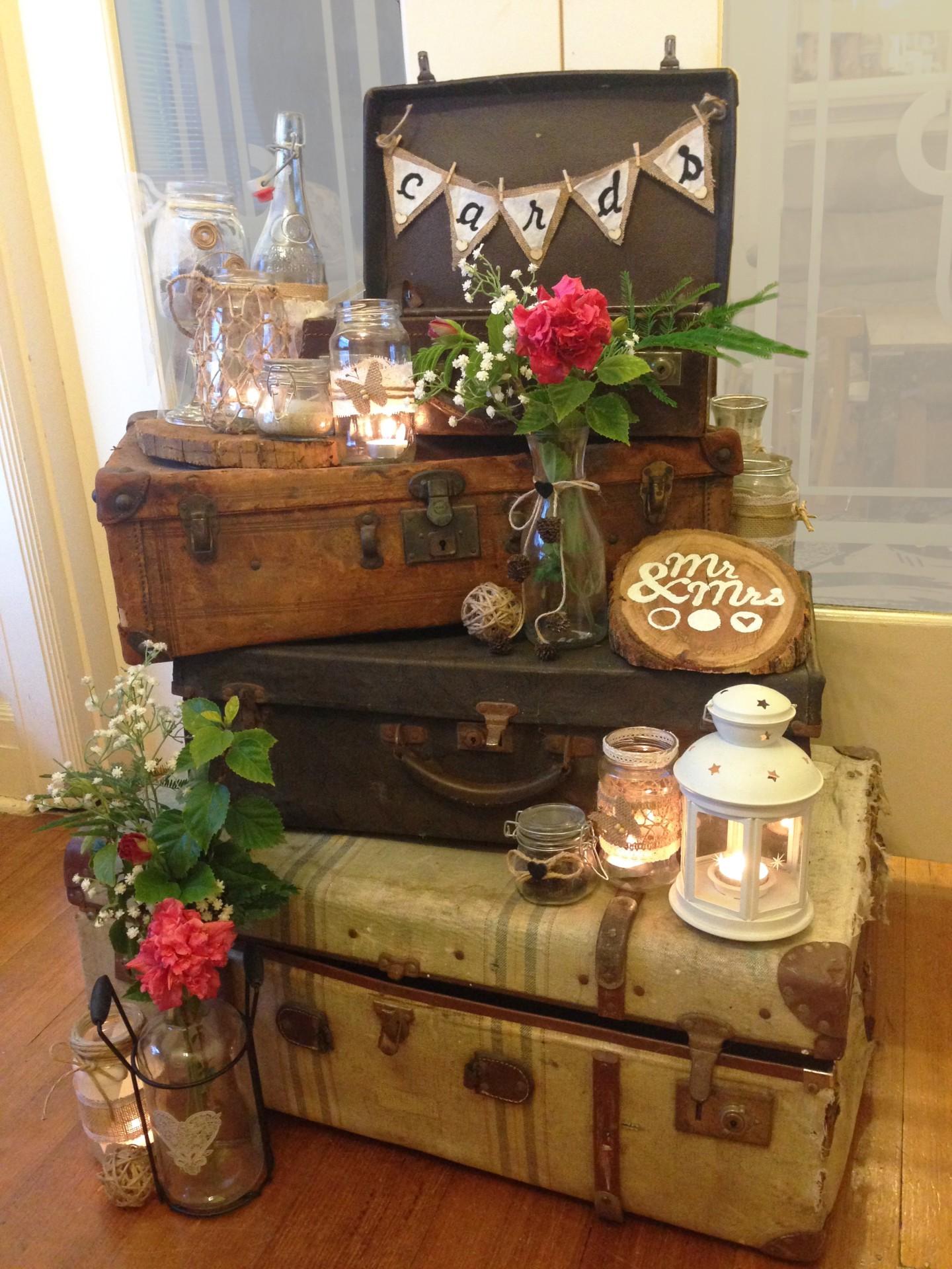 Vintage Suitcase, Rustic Prop Hire