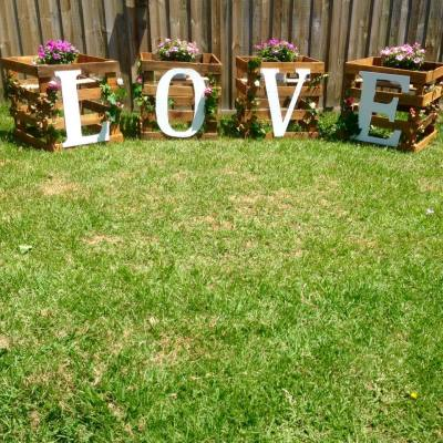 """LOVE"" Letter Backdrop"