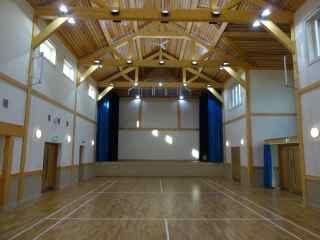 Hall with Stage and Badminton Court