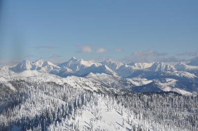 View to Glacier Park from Big Mountain