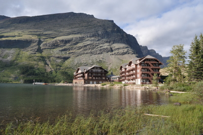 Many Glacier Hotel - Built by the Great Northern Railway in 1914-15.