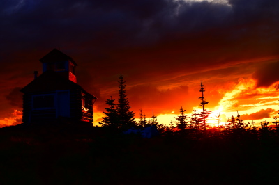 Fire in the sky at Hornet Lookout