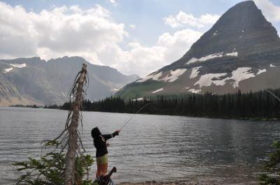 Hidden Lake is a popular destination for anglers