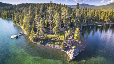 Stunning private homes are available on Little Bitterroot Lake