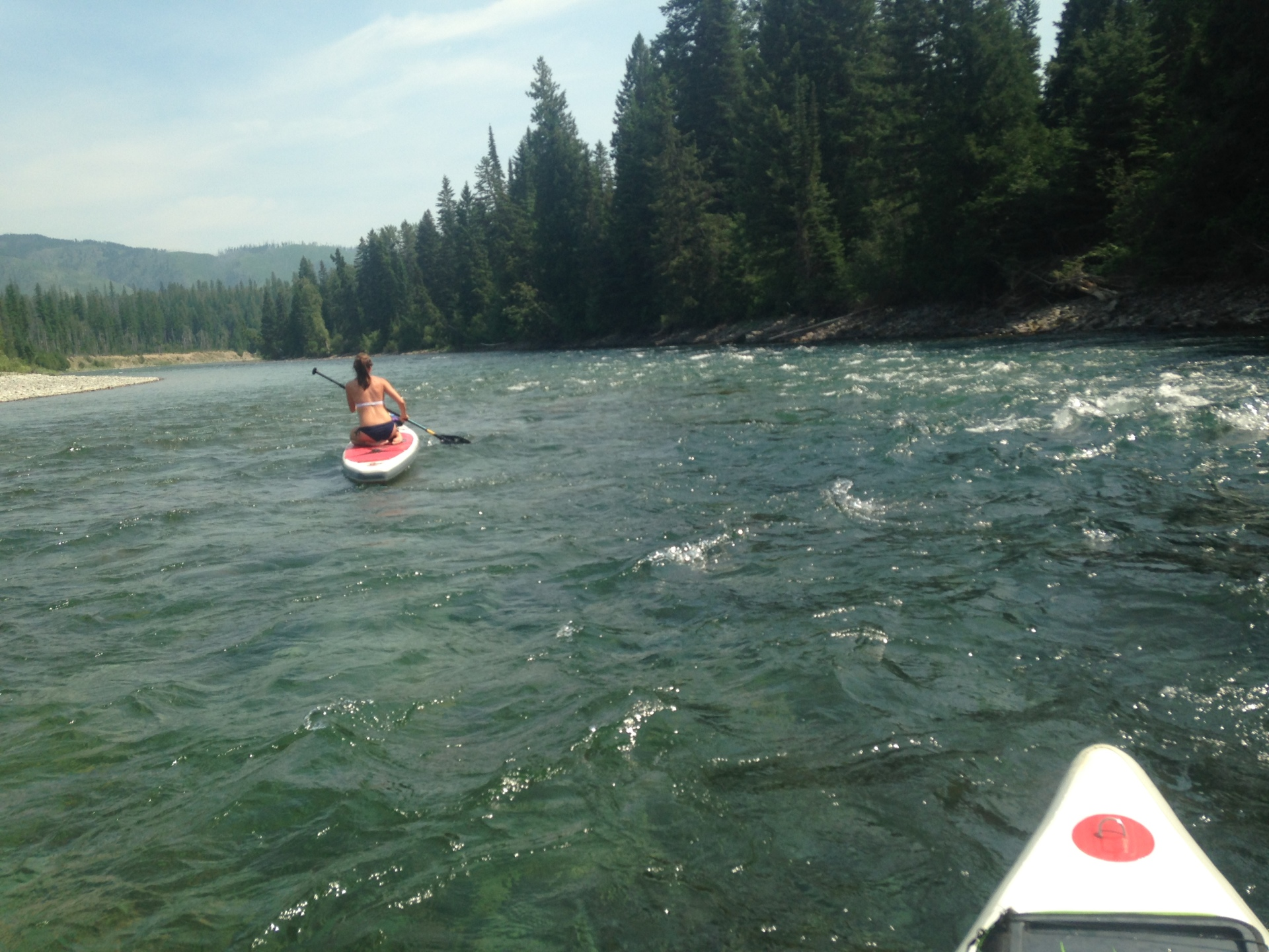Paddle board action on the Flathead River