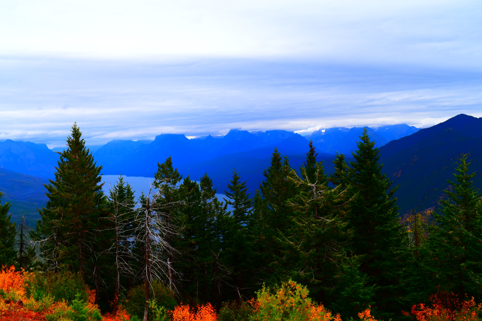 View From Apgar Lookout Trail