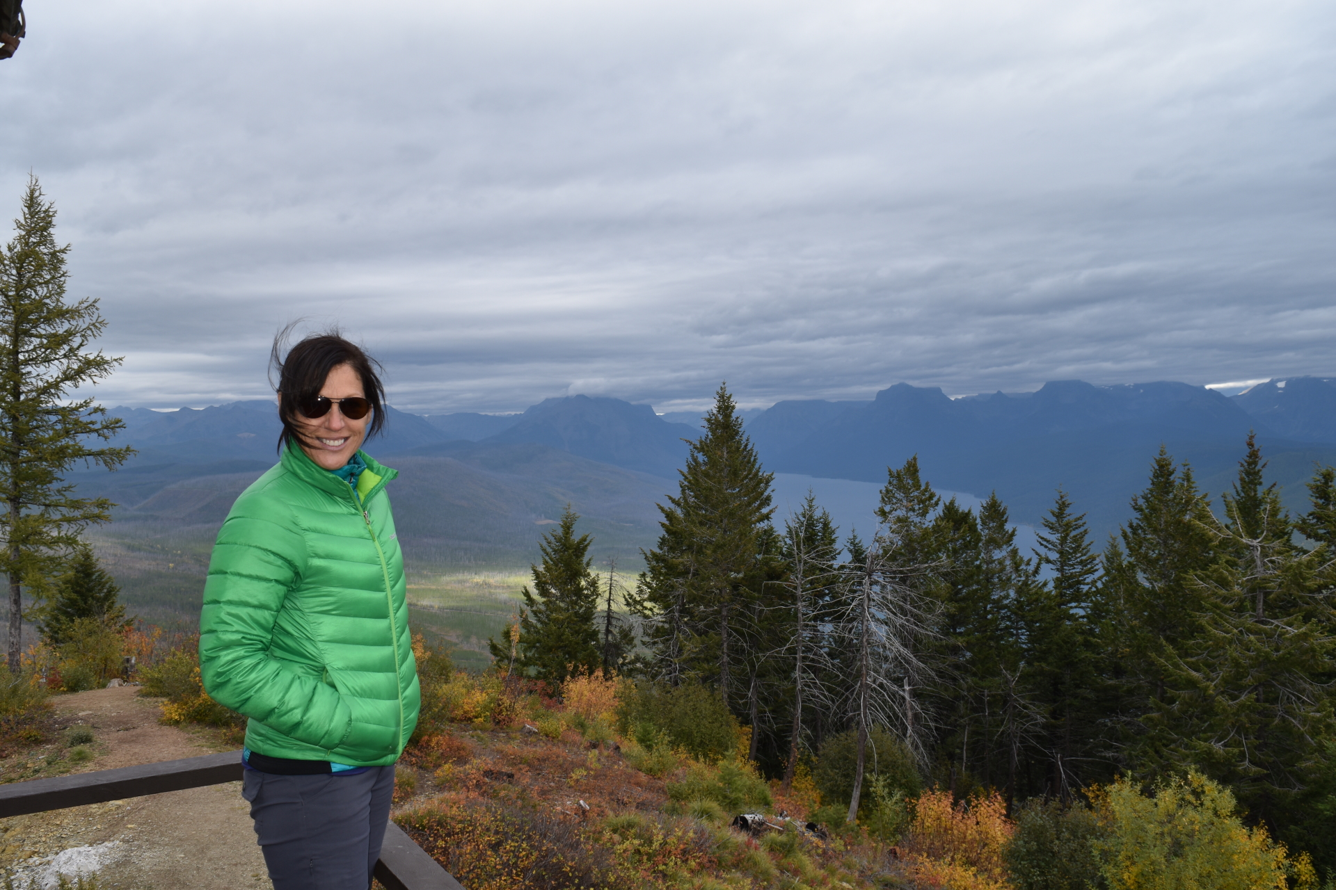Made it to Apgar Lookout! 7 mile hike round trip.