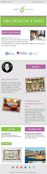 Newsletter Eblast