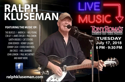 Ralph Kluseman LIVE at Tony Roma's Music on the Patio