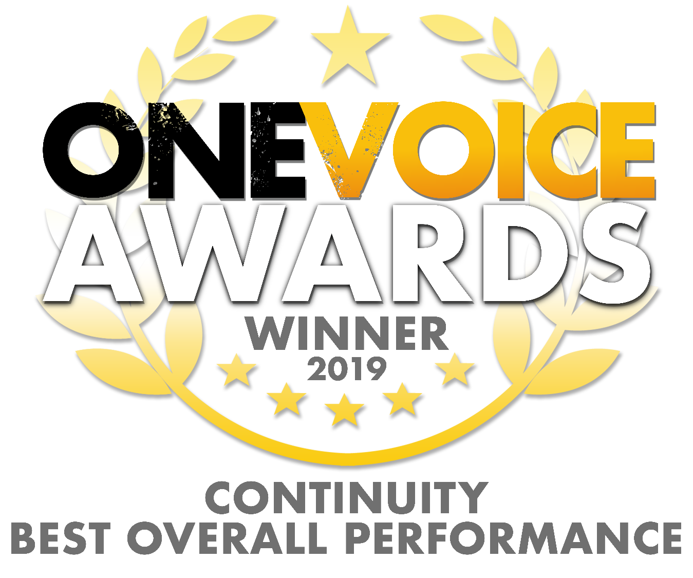 One Voice Award Winner 2019. Continuity Best Performance.