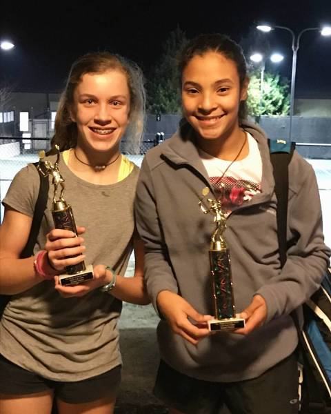 Annafrench and Lydia win the doubles at the Manor' GA L4 Feb 18, 2017