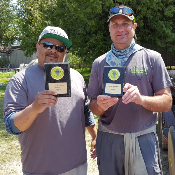 Brian C - Boater (R); Roger M - Co-Angler (L)