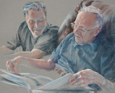 pastel, portrait commissions, old men in pastel, pastel art, original art, portrait impressionism