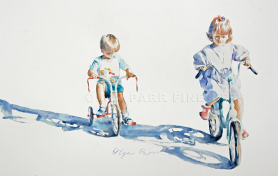 impressionism, watercolour, children,
