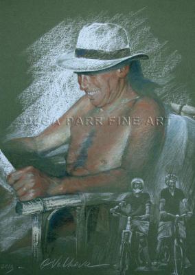 portrait of man reading paper