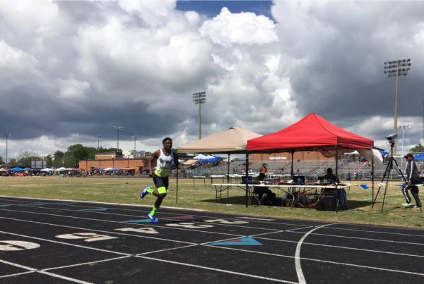 Treshawn crushing personal records! Way to run  53 in the 400 meters!!