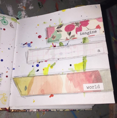 Week 3 and 4 of My Mini Art Journal Challenge