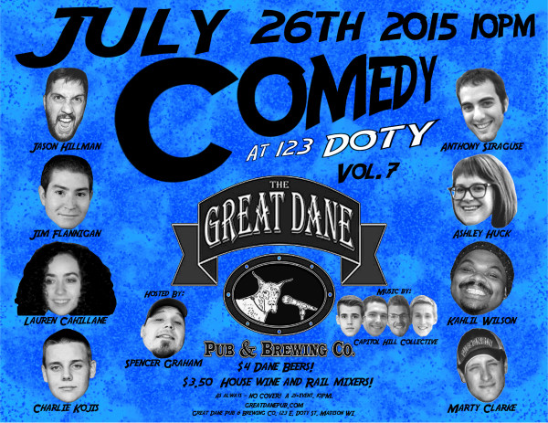 Comedy at 123 Doty vol. 7