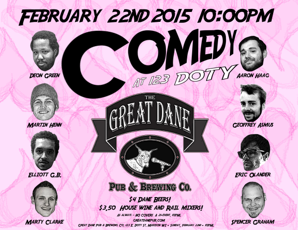 Comedy at 123 Doty vol. 2