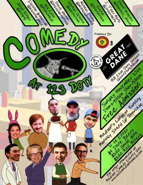 Comedy at 123 Doty vol, 23