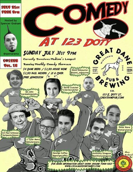 Comedy at 123 Doty vol, 19