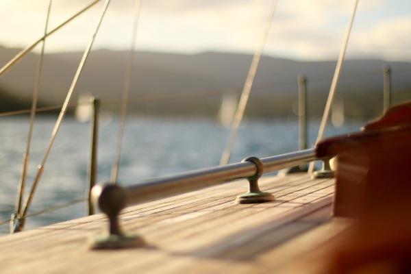 photo  Deck and brass rail bristol channel cutter